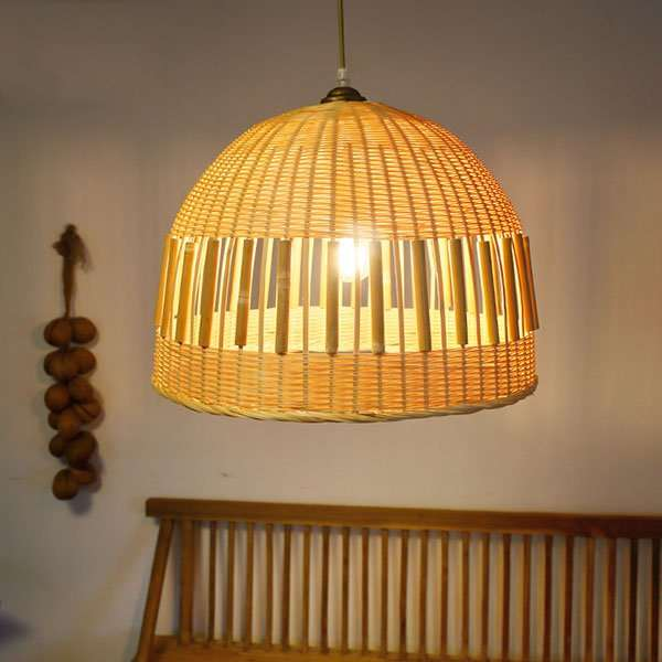 Wood Art,Bamboo Art Restaurant,Living Room,Corridor/ Aisle/ Entrance,Balcony Hand Woven Pastoral Chandelier,1 Lights