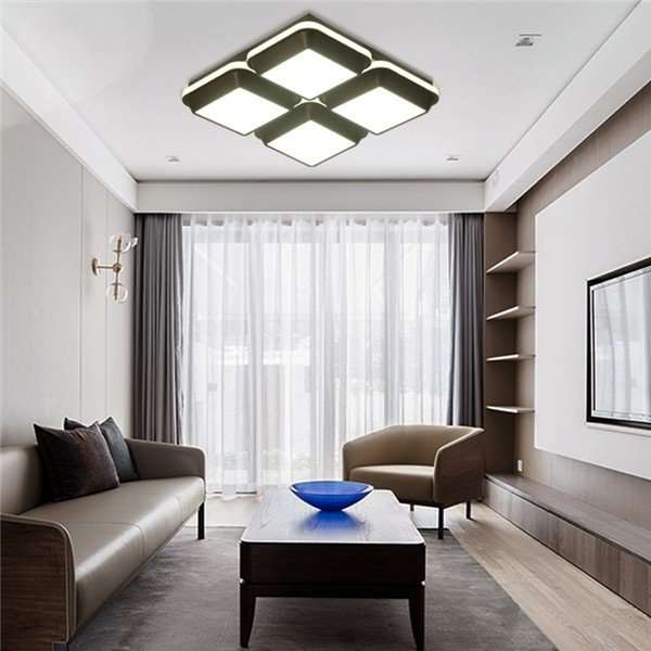 Iron Art,PVC,ABS Study/ Bedroom,Children's Room Spray Paint Frosted Modern Simple Ceiling Lamp