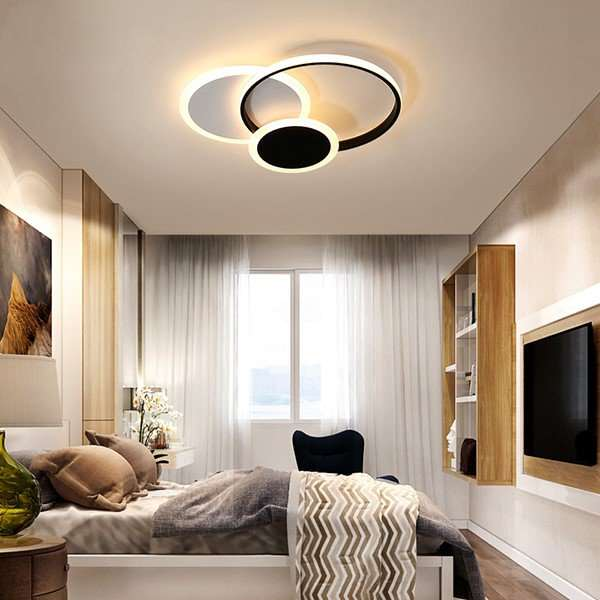 Iron Art,Silica Gel,Acrylic Study Room/ Bedroom,Restaurant,Cloakroom Spray Paint Frosted Modern Minimalist Ceiling Lamp