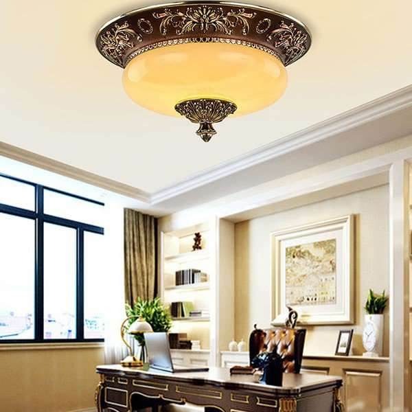 Imitation Jade,Iron Art,Zinc Alloy Cloakroom,Balcony,Corridor/ Aisle/ Porch Plating European-style Ceiling Lamp