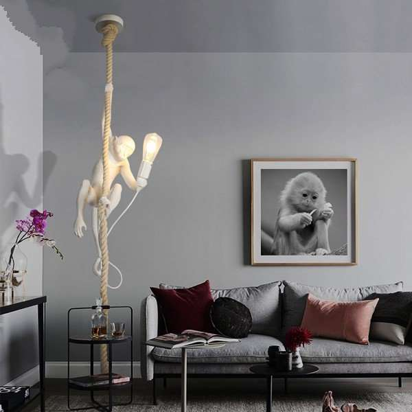 Hemp Rope,Iron Art,Resin Living Room,Study/ Bedroom,Restaurant,Corridor/ Aisle/ Entrance,High Level/ Duplex,Other Spray Paint Frosted Postmodern Chandelier,1 Lights