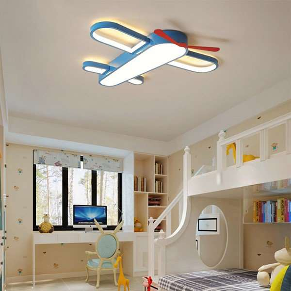 Iron Art,Acrylic,Aluminum Children's Room Spray Paint Frosted Modern Simple Ceiling Lamp