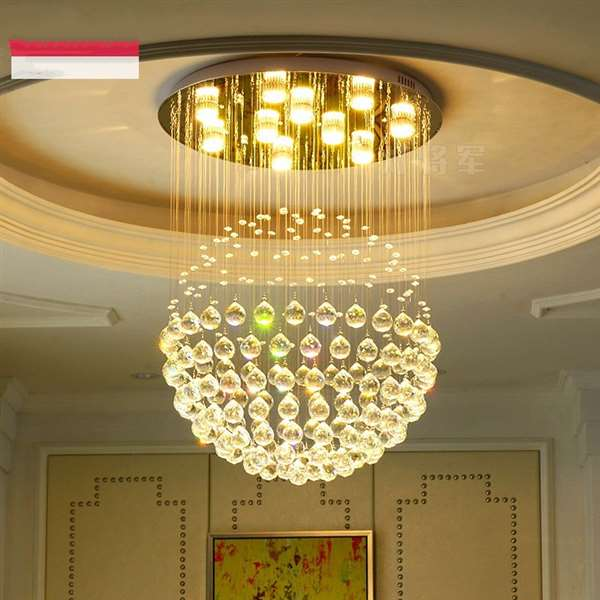 Crystal,Stainless Steel Living Room,Restaurant Brushed Hanging Modern Minimalist Chandelier,1 Lights