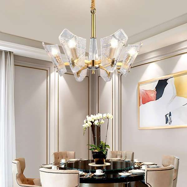 Glass,Crystal,Copper Living Room,Study/ Bedroom,Restaurant Other/other Light Luxury Chandelier,6 Lights