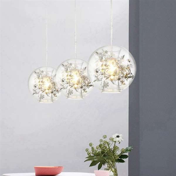 Glass,Iron Art Restaurant,Study/ Bedroom Paint Frosted Art Personality Chandelier,1 Lights