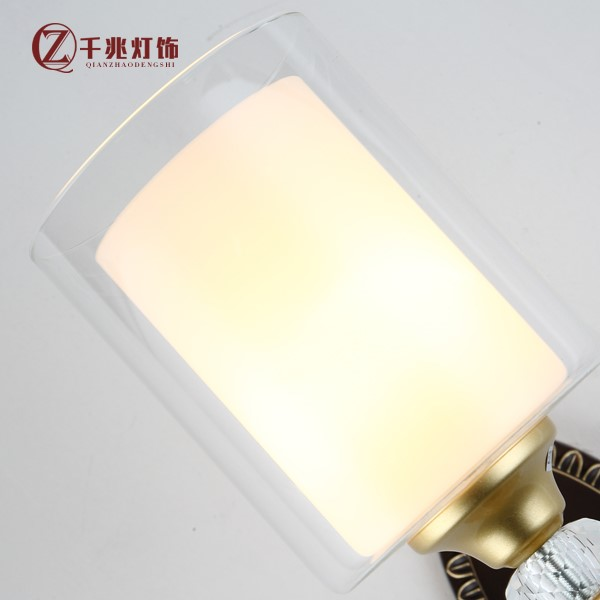 Zinc Alloy,Glass Living Room,Study/ Bedroom,Restaurant Spray Sanding Modern Minimalist Wall Lamp, Single Head