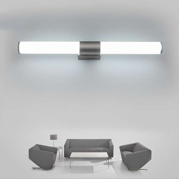 Iron Art,Acrylic Bathroom,Cloakroom Spray Paint Frosted Modern Minimalist Mirror Headlights, Single Head