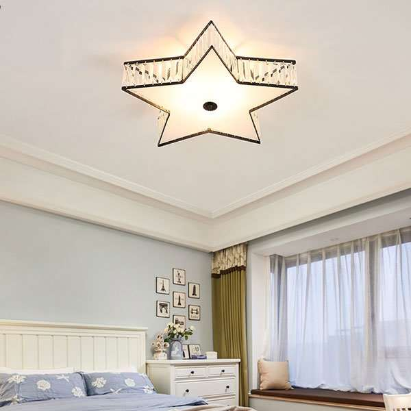 Iron Art,Crystal Corridor/ Aisle/ Entrance,Children's Room,Study/ Bedroom Spray Paint Frosted American Simple Ceiling Lamp