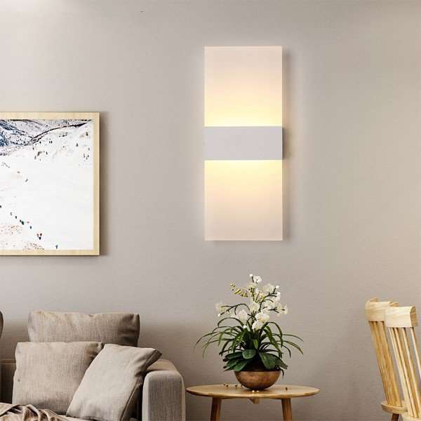 Iron Art,Acrylic Study Room/ Bedroom,Corridor/ Aisle/ Porch Spray Paint Frosted Modern Minimalist Wall Lamp, Single Head