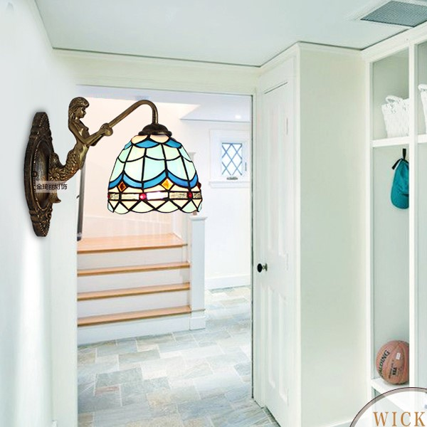Glass Balcony,Stairs/ Corner Other/other Mediterranean Wall Light, Single Head