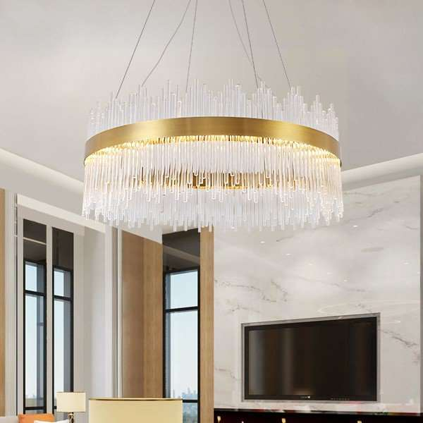 Iron Art,Glass Living Room,Study/ Bedroom,Electroplated Post Modern Chandelier In Dining Room,24 Above The Head