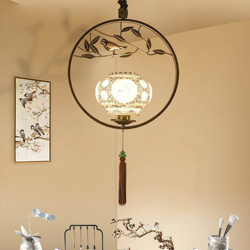 Iron Art,Ceramic Living Room,Corridor/ Aisle/ European Forged New Chinese Wall Lamp,1 Lights