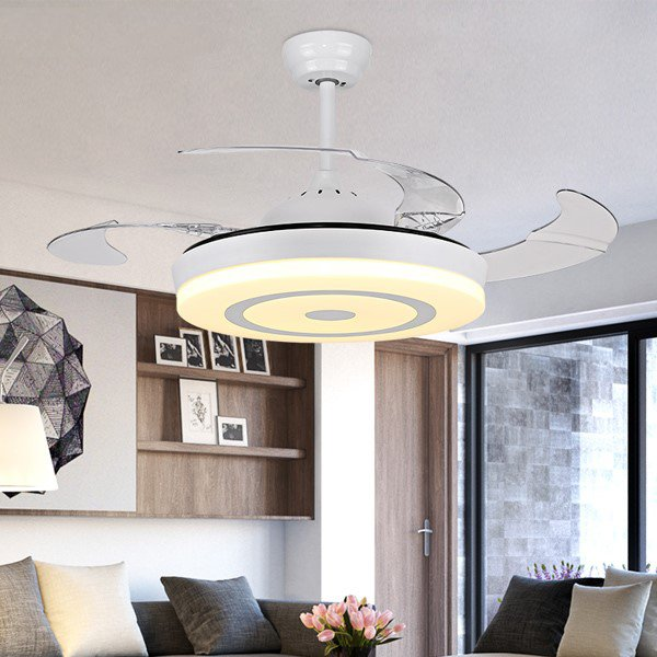 Iron Art,PC,Acrylic Living Room,Study/ Bedroom,Restaurant Modern Minimalist Fan Light,1 Lights
