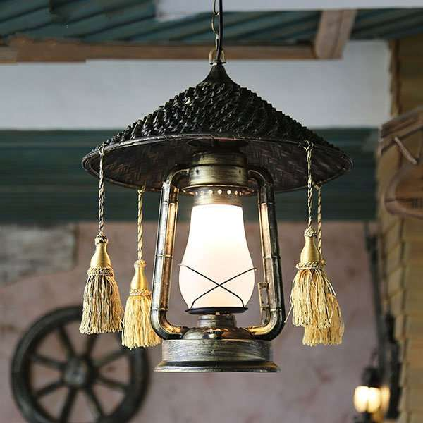 Iron Art,Bamboo Art Restaurant,Corridor/ Aisle/ Porch Hand-woven South East Asia Chandelier,1 Lights
