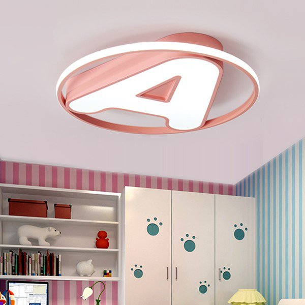 Iron Art,Acrylic Children's Room,Study/ Bedroom Spray Paint Frosted Modern Minimalist Ceiling Lamp