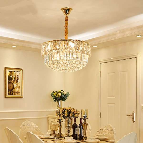 Iron Art,Crystal Study Room/ Bedroom,Restaurant Plated Modern Minimalist Chandelier,8 Lights