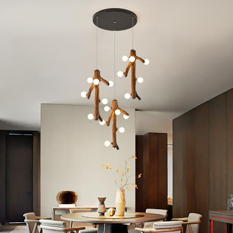 Iron Art,Glass,Resin Living Room,Study/ Bedroom,Restaurant Carving Nordic\ IKEA Chandelier,18 Lights