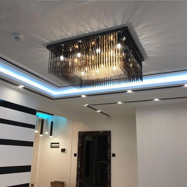 Glass,Crystal,Stainless Steel Living Room,Other Electric Punching Postmodern Ceiling Lamps
