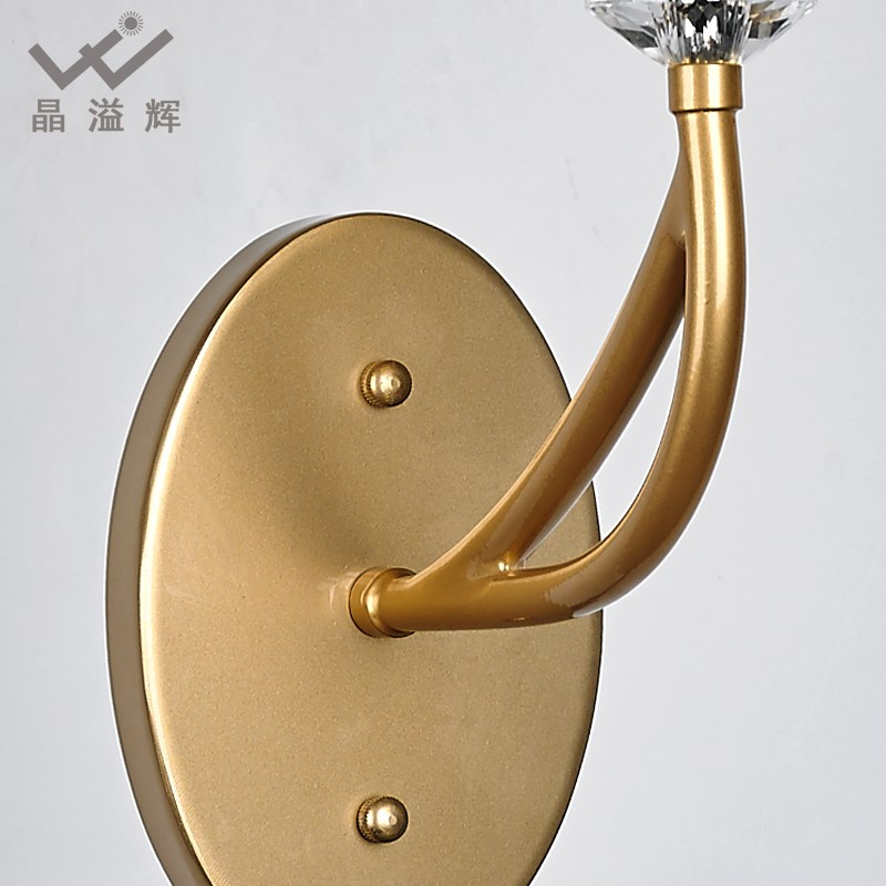 Iron Art,Crystal Villa/ The Hotel Lobby,Other,Balcony,Cloakroom,Corridor/ Aisle/ Entrance,Stairs/ Corner,Children's Room,Restaurant,Study/ Bedroom,Living Room And Other/other Light Luxury Wall Lamp, Single Head