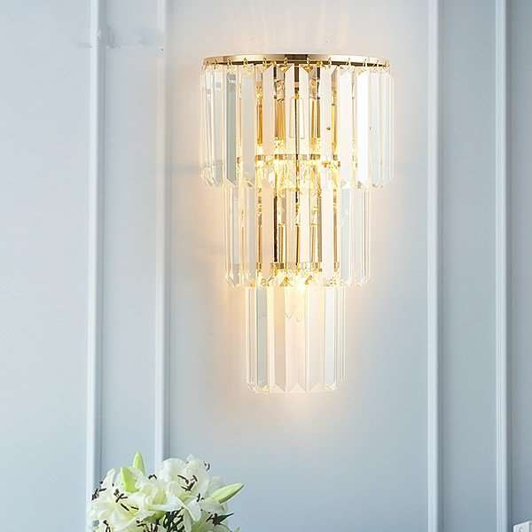 Iron Art,Glass,Crystal Living Room,Study/ Bedroom,Corridor/ Aisle/ Porch Plating European Wall Lamp
