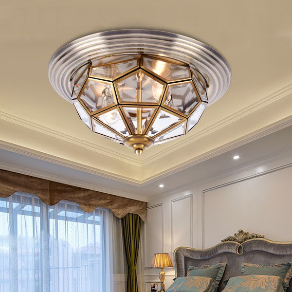 Glass,Copper Balcony,Corridor/ Aisle/ Porch Solder Retro Ceiling Lamp