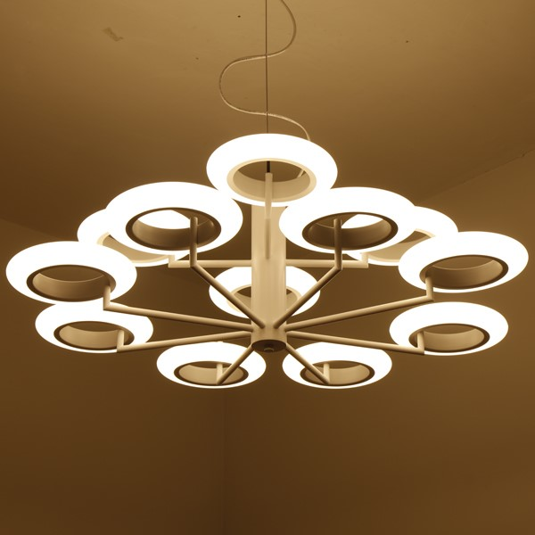 Iron Art,Zinc Alloy,Acrylic Living Room,Study/ Bedroom Spray Paint Frosted Modern Minimalist Chandelier,12 Lights