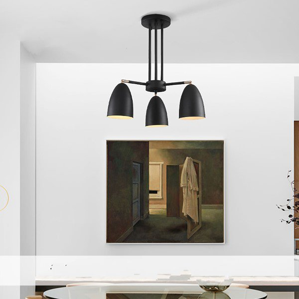 Iron Art Restaurant,Study/ Bedroom,Living Room Painting And Sanding North Europe\ IKEA Chandelier,3 Lights