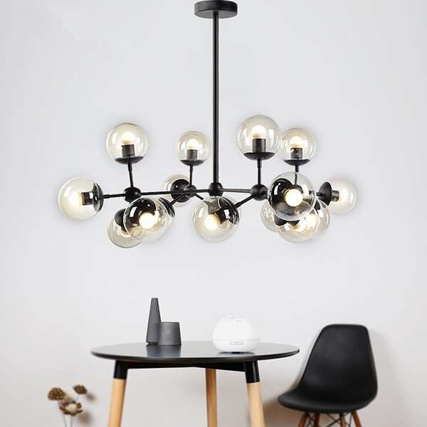 Iron Art,Glass Study Room/ Bedroom,Living Room And Other/other Modern Minimalist Chandelier,16 Lights
