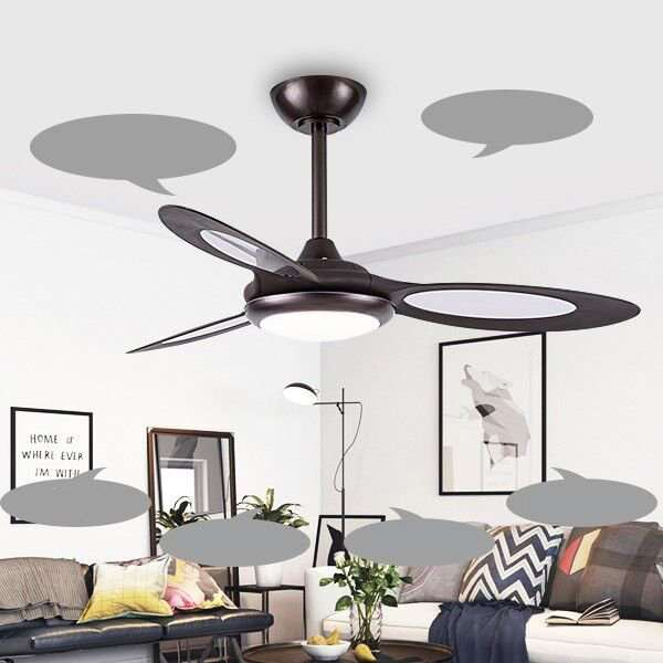 Iron Art,Acrylic,ABS Restaurant,Study/ Bedroom,Living Room Modern Simple Fan Light,1 Lights