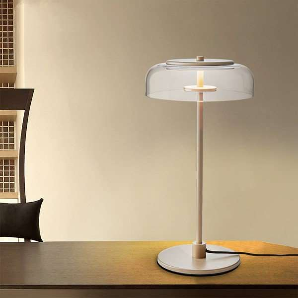 Iron Art,Glass,Aluminum Study Room/ Bedroom,Restaurant,Living Room Electroplated Post Modern Table Lamp