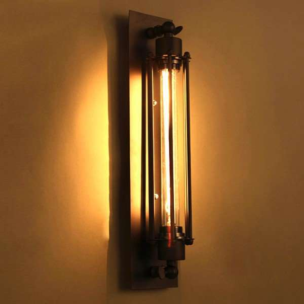 Iron Art Restaurant,Corridor/ Aisle/ Porch Paint Frosted Retro Wall Lamp, Single Head