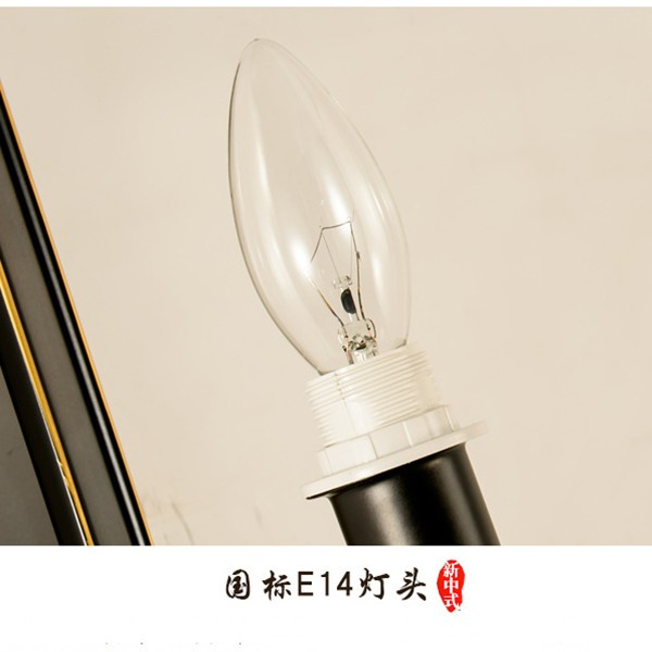 Iron Art,Cloth Art High-rise/ Duplex,Study/ Bedroom,Living Room Hot Bend New Chinese Wall Lamp, Single Head