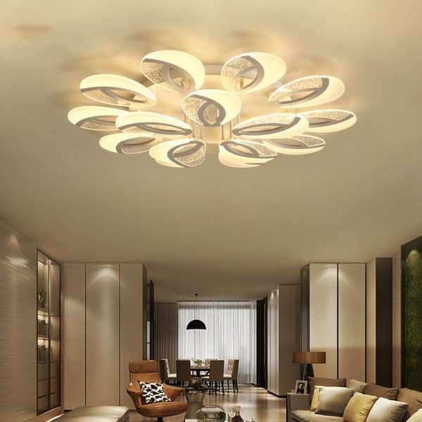 Iron Living Room,Study/ Bedroom Spray Paint Frosted Modern Minimalist Ceiling Lamp