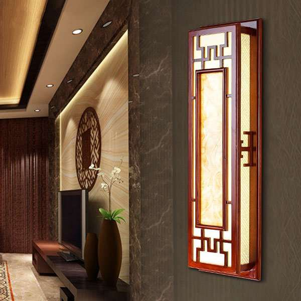 Wood Art,Imitation Sheepskin Villa/ The Hotel Lobby,Study/ Bedroom Hollow Carved Chinese Wall Lamp, Single Head
