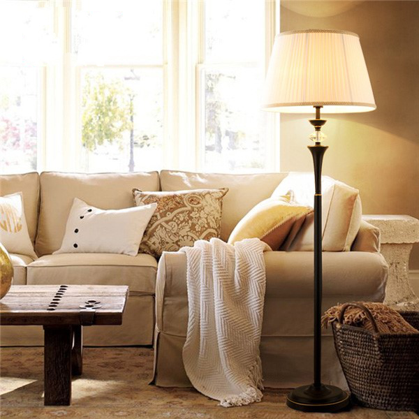 Iron Art,Cloth Living Room,Study/ Bedroom Spray Paint Frosted American Simple Floor Lamp