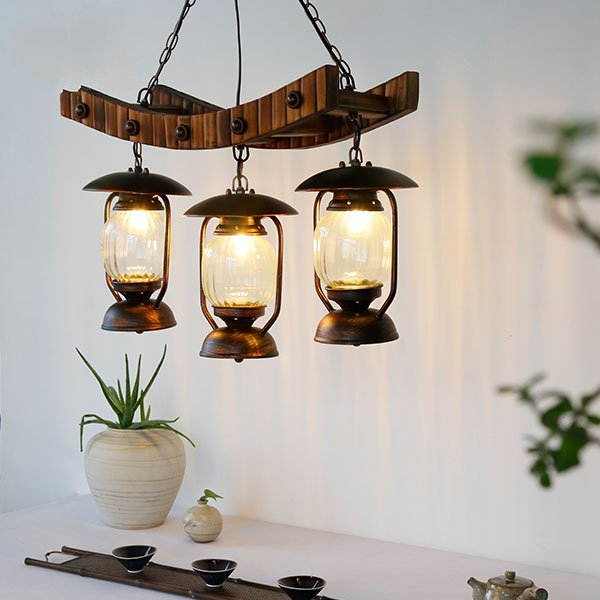 Wood Art,Bamboo Art,Iron Living Room,Study/ Bedroom,Restaurant Hand Woven Pastoral Chandelier,3 Lights