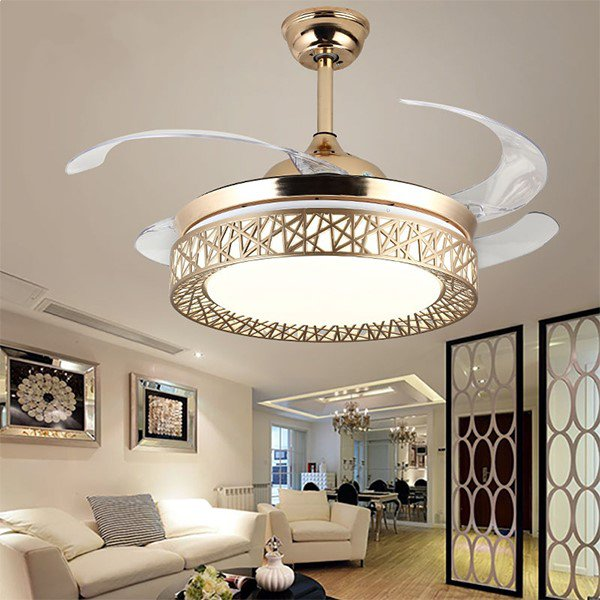 Acrylic,PC Living Room,Study/ Bedroom,Restaurant,Other Electroplated Modern Simple Fan Lights,1 Lights
