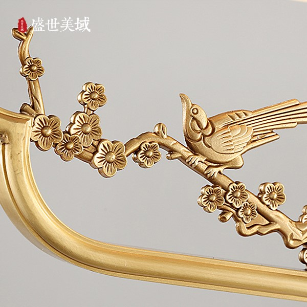 Marble,Copper Study Room/ Bedroom,Restaurant,Chess Room/ Mahjong Hall Engraving New Chinese Chandelier,3 Lights