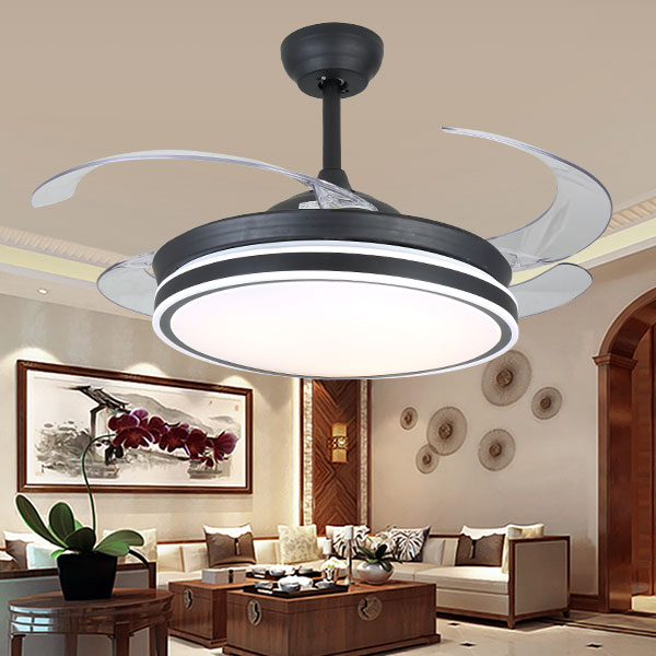 Iron Art,Crystal,Copper,PC Living Room,Electroplated American Simple Fan Light In Dining Room,1 Lights