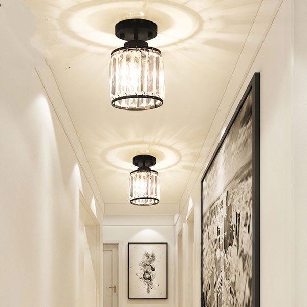 Iron Art,Crystal Balcony,Stairs/ Corner,Corridor/ Aisle/ Porch Spray Paint Frosted American Style Countryceiling Lamp