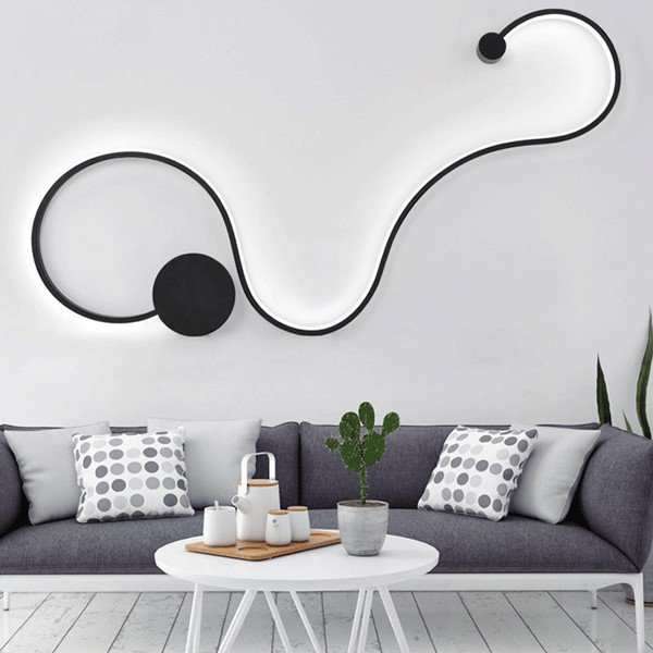 Silica Gel,Acrylic,Aluminum Living Room,Study/ Bedroom,Other Spray Paint Frosted Art Personality Wall Lamp, Single Head