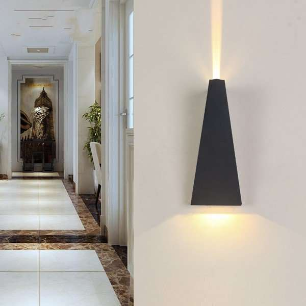 Aluminum Corridor/ Aisle/ Entrance,Balcony,Stairs/ Corner Spray Paint Frosted Post Modern Wall Lamp, Single Head
