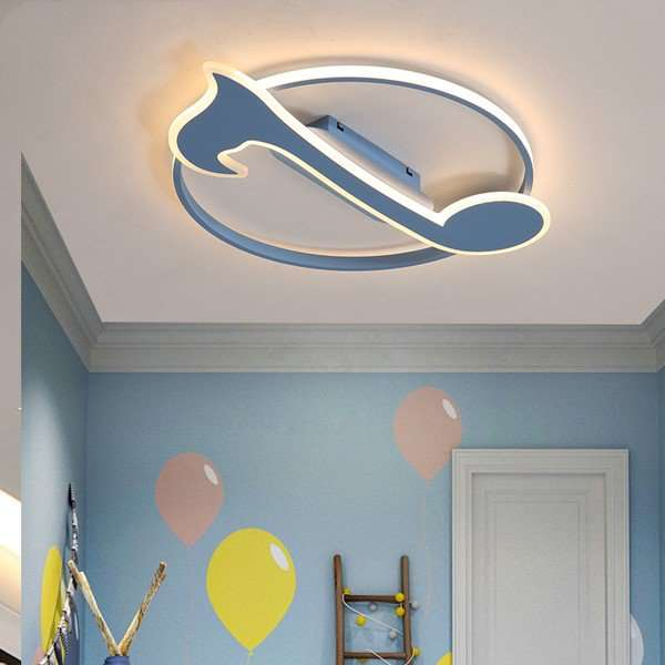 Iron Art,Aluminum,Acrylic Children's Room,Study/ Bedroom Spray Paint Frosted Modern Minimalist Ceiling Lamp