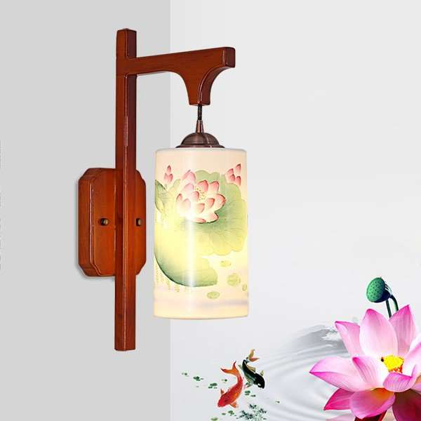 Solid Wood,Ceramic Living Room,Study/ Bedroom,Corridor/ Aisle/ Porch Hollow Carved Chinese Wall Lamp, Single Head