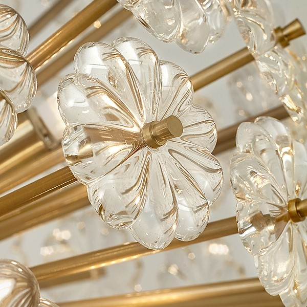 Crystal,Copper Study Room/ Bedroom,Restaurant,Corridor/ Aisle/ Entrance,Cloakroom,Stairs/ Corner Spray Paint Frosted Post Modern Chandelier,6 Lights
