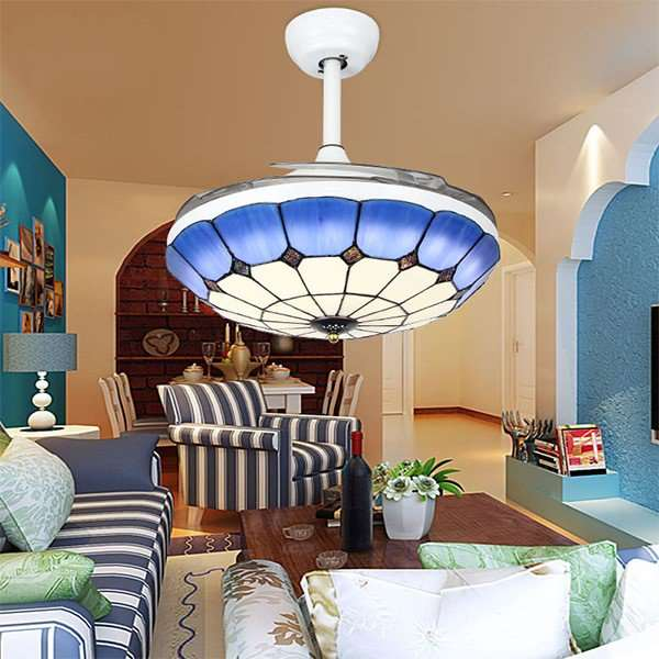 Glass,PC,Shell Restaurant,Living Room Spray Paint Frosted Mediterranean Fan Light,1 Lights