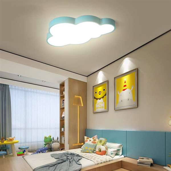 Iron Art,Acrylic Children's Room,Study/ Bedroom Spray Paint Frosted Children/ Cartoon Ceiling Lamp