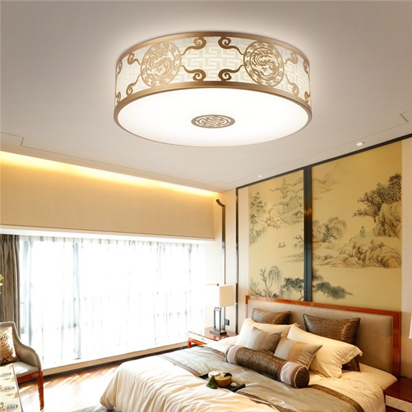Iron Art,Cloth Art,Acrylic Living Room,Study/ Bedroom Engraving New Chinese Ceiling Lamp