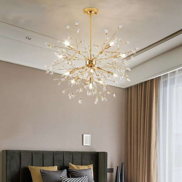 Iron Art,Crystal Living Room,Study/ Bedroom,Restaurant Electroplating In Northern Europe\ IKEA Chandelier,11 Lights