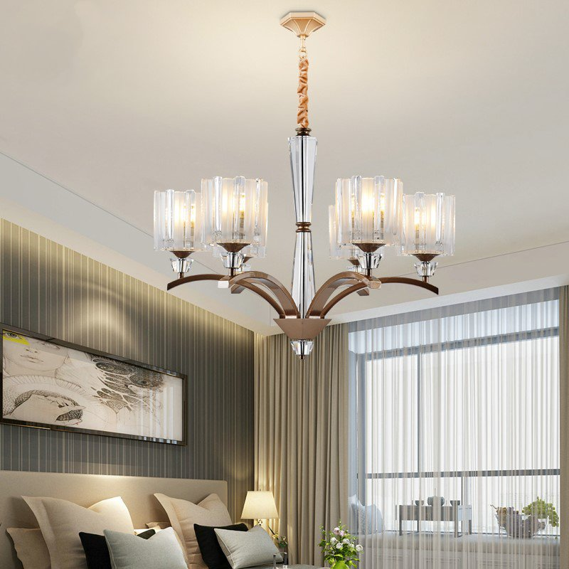 Iron Art,Glass,Crystal Living Room,Audio-visual Room,Study/ Bedroom,Children's Room,Stairs/ Corner,Restaurant,Corridor/ Aisle/ Entrance,High Level/ Duplex,Cloakroom,Balcony,Other,Chess Room/ Mahjong Museum,Kitchen,Villa/ Hotel Lobby Others/other Light Luxury Chandelier,6 Lights